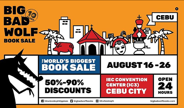 Big Bad Wolf (BBW) Book Sale back in Cebu this August 16 to 26, 2019