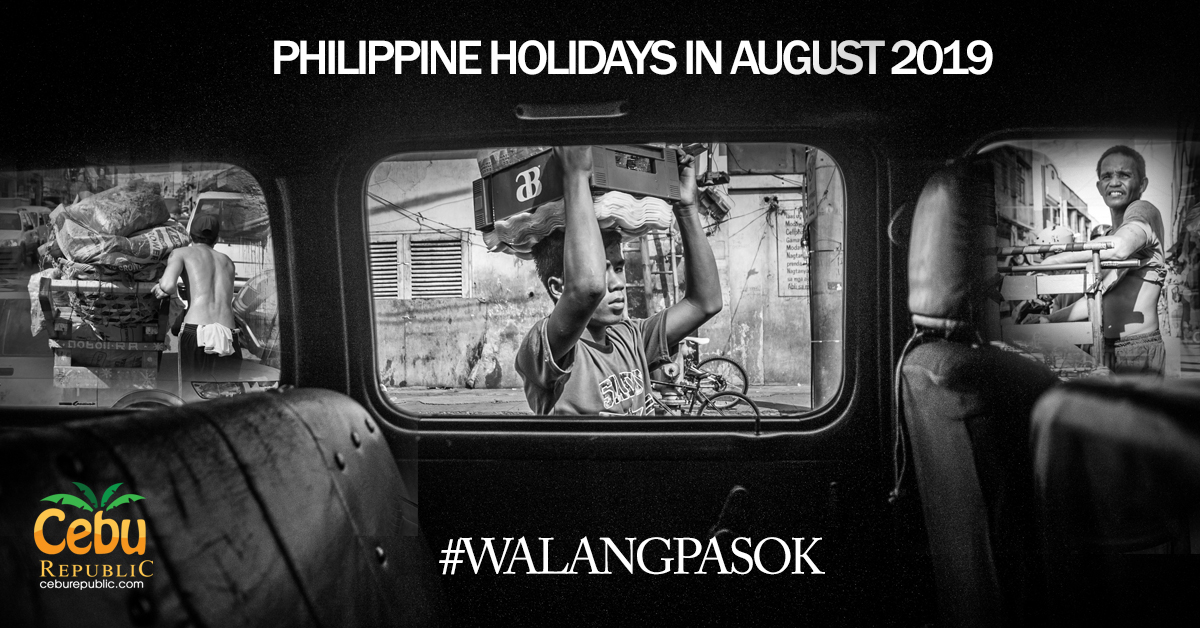 Look: Philippine Holidays in August 2019